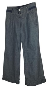Tweed Wide Leg Wide Leg Pants Blue and Grey