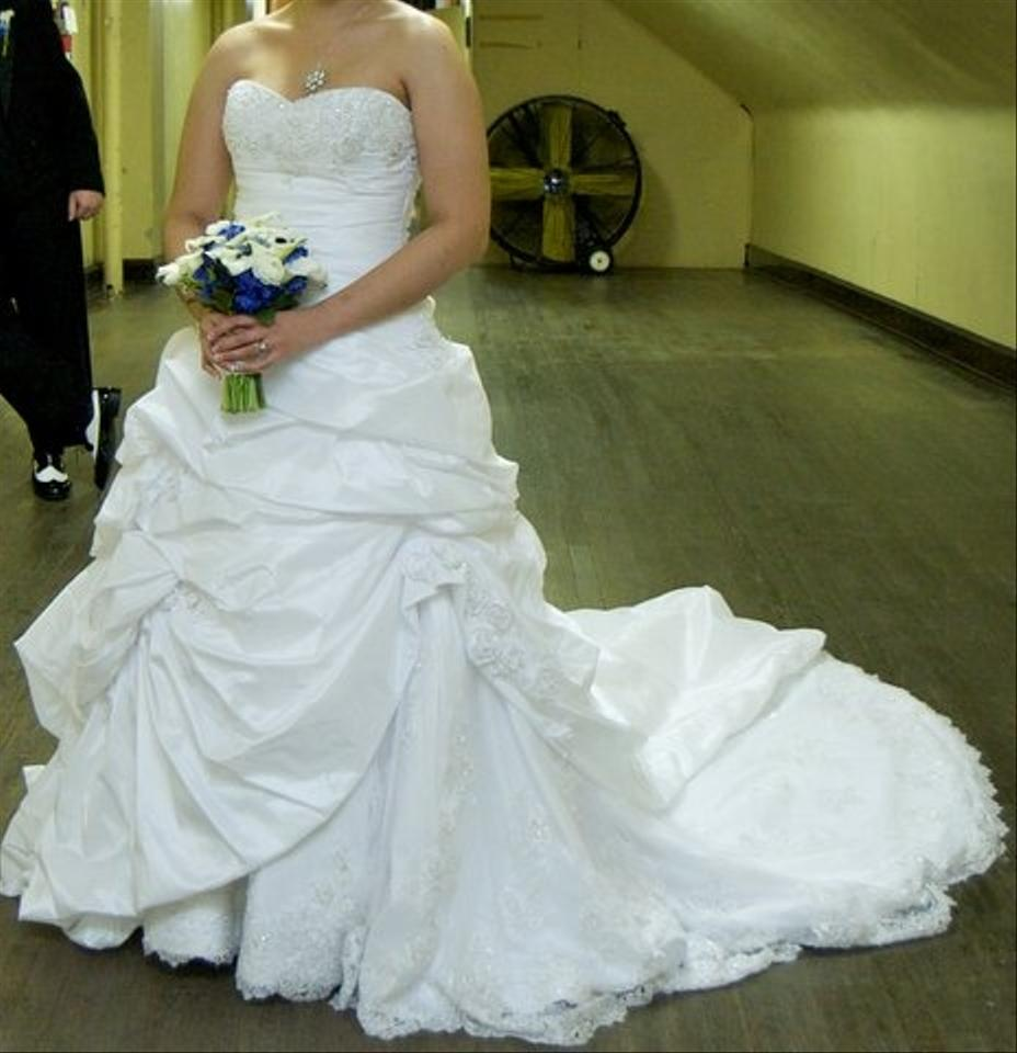 Maggie Sottero White/White Lace with Pewter Accent Bordeaux Taffeta ...