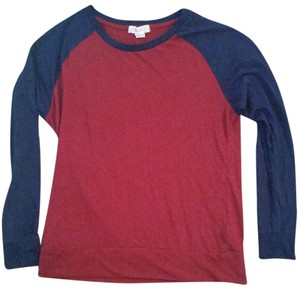Forever 21 Baseball Casual T Shirt Red and blue