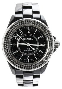 Chanel * Chanel J12 Black Ceramic, Black Diamonds Automatic Watch