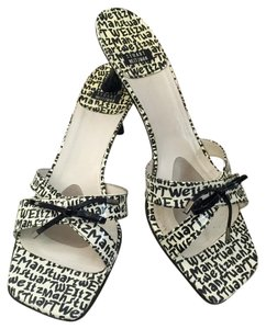 Stuart Weitzman Black & White Sandals