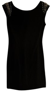 Better B. short dress Black Lbd Little Cocktail Studded Shoulder on Tradesy