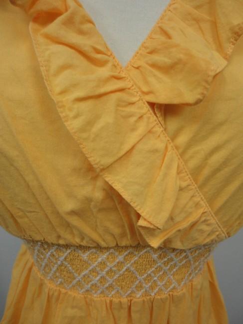 Anthropologie Top Yellow
