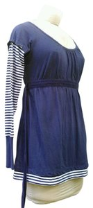 Bugle Boy New Striped Top Navy and White