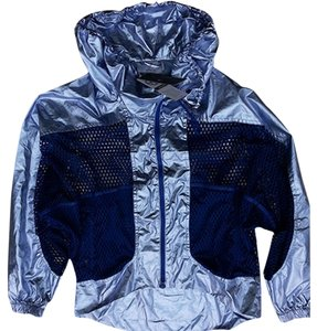 Adidas By Stella McCartney Metallic Blue Jacket