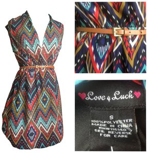 love 4 luck short dress tribal print on Tradesy