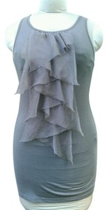 Twelve by Twelve Ruffles Tie Top Gray