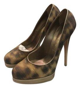 Casadei Gold and browns Pumps