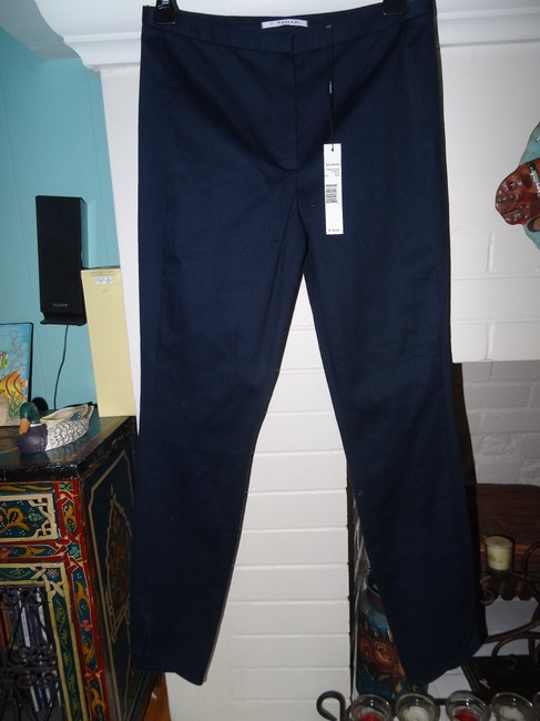 Tahari Wear To Work Office Straight Pants navy blue