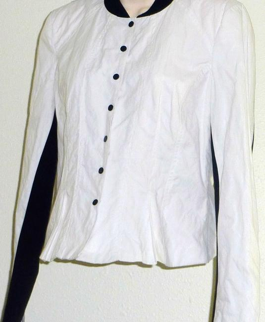 Kenneth Cole Color-blocking Snaps White/Black Jacket