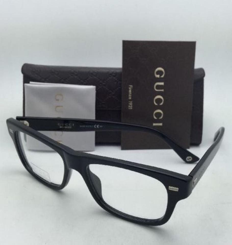 db501a3d10 Gucci Gg 1080 04ua 53-17 Black Frame New Rx-able Eyeglasses W  Clear Demo  Lenses - Tradesy