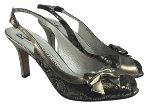 Peter Kaiser Metallic Leather Slingback Bronze Sandals