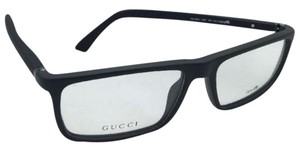 Gucci New GUCCI Eyeglasses GG 1093 D28 55-16 140 Matte Black Rubberized Frames w/Clear Lenses