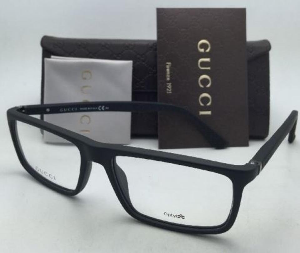 21aff9eaa24 Gucci New GUCCI Eyeglasses GG 1093 D28 55-16 140 Matte Black Rubberized  Frames w. 123456789101112