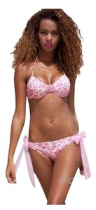Other New 2pc Pink Lace Bikini Bathing Suit Tag Sz XLarge (Fits US Large Best See Measurements For Fit)