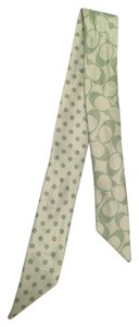 Coach Coach Signature C and Polka Dot Ponytail Scarf Tie