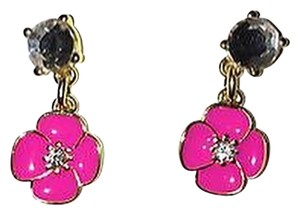 Kate Spade Reduced Bougainvillea Flower Postback Dangle Earrings