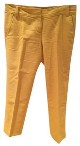 Tory Burch Capri/Cropped Pants Mustard