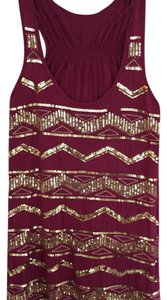 Rue 21 Top maroon and gold