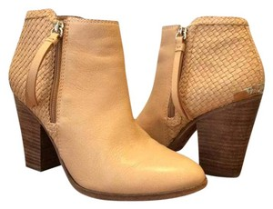 Coach Ankle Leather Tan Boots