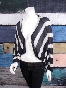 Anthropologie Moth Striped Kimono Sleeve Cardigan Sweater