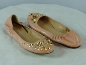 J.Crew J Crew Percy Studded Leather Pink Flats