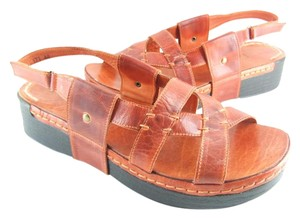 Antelope 75% Off Retail Burnt Orange Leather #173 Sandals