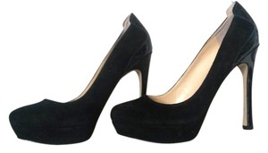 Ivanka Trump Suede Stiletto Black Pumps