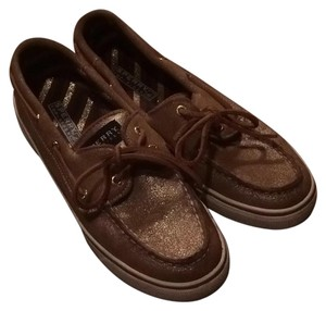 Sperry Gold with Glitter Flats