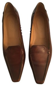 Tod's Loafer Heel 8.5 Brown Pumps