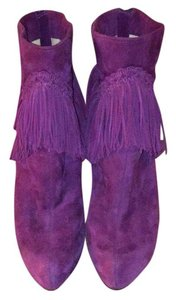 Christian Louboutin Purple Boots