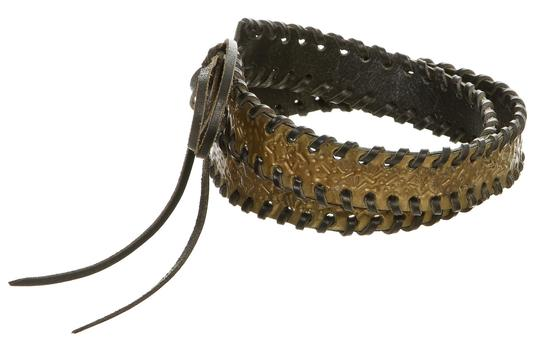 Fendi Fendi Black Leather and Acrylic Braided Belt 9470-72