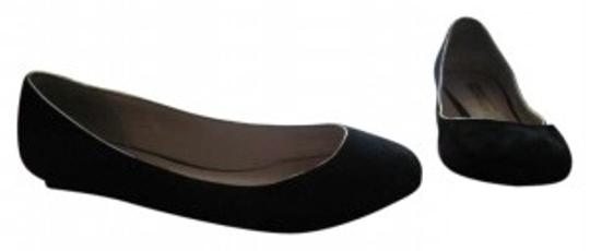 Lovely People Black Velvet Flats