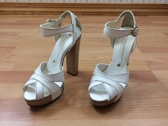 Gianmarco Lorenzi Platform Leather Urpersonalshoppers White Sandals