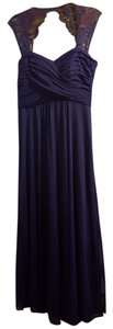 Scarlett Bella Electric (Indigo) Sleeveless Lace - Shoulder Formal Gown Dress