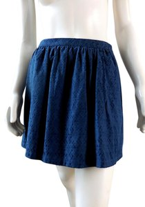 Forever 21 Mini Gathered Full 7785 Mini Skirt Navy Blue