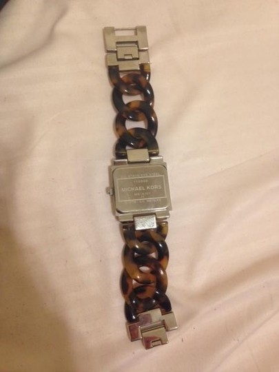 Michael Kors Michael Kors Tortoise and Steel Watch 4107