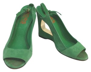 Michael Kors Green Suede Heels Wedges