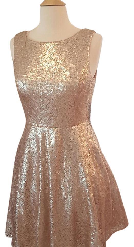 Aqua Pale Pink Fit and Flare Short Cocktail Dress Size 8 (M) - Tradesy
