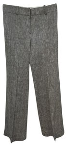 Ann Taylor Retail Like New Linen Blend Great For Work Wide Leg Pants Medium Charcoal Grey