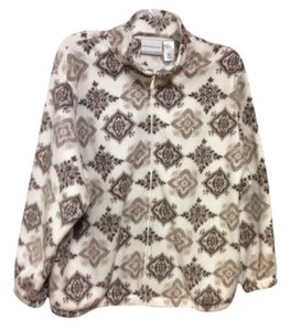 Alfred Dunner Soft Warm Cute Cream/Browns Jacket