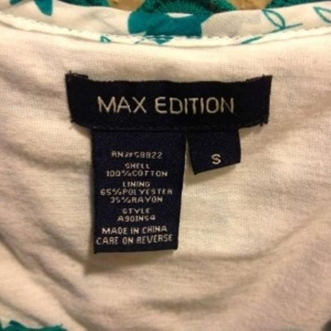 Max Studio short dress White with Turquoise on Tradesy