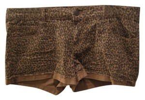 Celebrity Pink Mini/Short Shorts tan and brown animal print