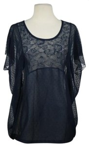 Free People Womens Color Top Blue