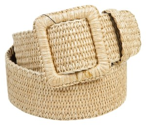Yves Saint Laurent Yves Saint Laurent Beige Wicker Belt (Size 75