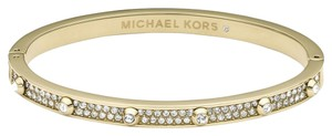 Michael Kors Yellow Gold Tone Hinge Pave Bangle Bracelet MKJ3267710