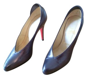 Christian Louboutin Leather Pump Classic Silk Pirite Pumps