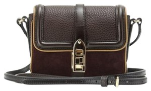 Burberry Leather Shoulder Suede Cross Body Bag