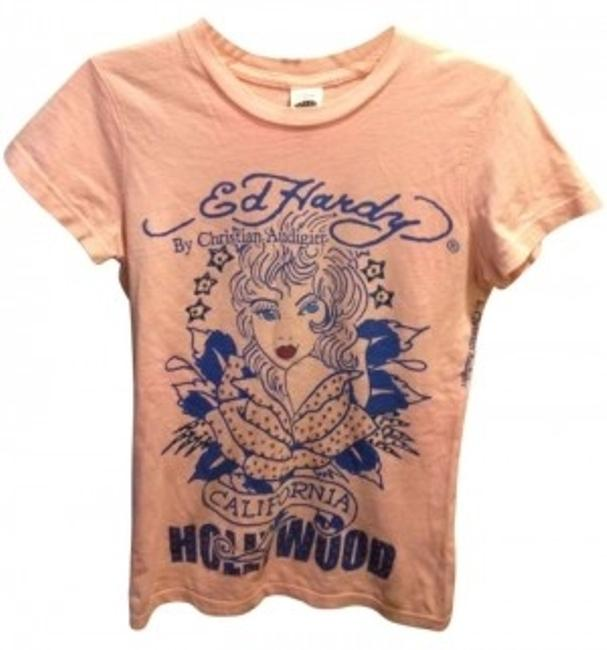 Preload https://item1.tradesy.com/images/ed-hardy-pink-tee-shirt-size-2-xs-153070-0-0.jpg?width=400&height=650