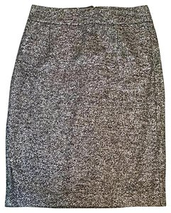 J.Crew Wool Pencil Silver Gray Skirt Gray Silver